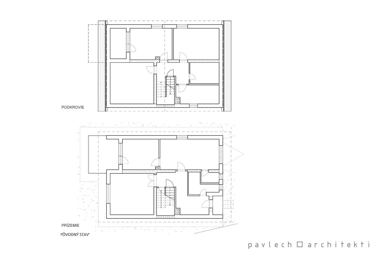 007-rekonstrukcia-rodinny-dom-belusa-povodny-stav-podorys